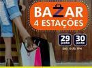 Bazar solidario das 4 Estações, a beneficio de la Sociedade de Socorros Mútuos e Beneficente Rosalía de Castro de Santos