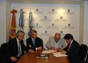 De izquierda la derecha, Alejandro López Dobarro; Alfonso Rueda; Rafeel Gil y Antonio Rodríguez Miranda.