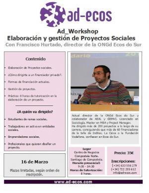 Cartel do Seminario co detalle do programa. Foto: Ecos do Sur.