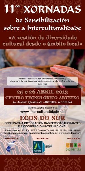 XI Xornadas de Sensibilización sobre a Interculturalidade. «A xestión da diversidade cultural desde o ámbito local»