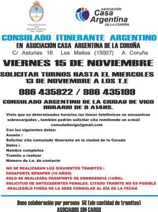Consulado itinerante de la República Argentina en A Coruña