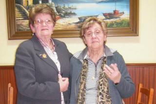 De izquierda a derecha, Antonia Giráldez y Norma Pedreda. // D.P.