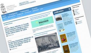 Imagen de la nueva web del Arquivo da Emigración Galega.