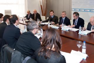 Alfonso Rueda presidiu a xuntanza do Consello de Acción Exterior de Galicia. Autor: Xoán Crespo
