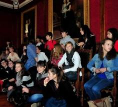 A comitiva no salón nobre do Concello. Foto: Iñaki Abella.
