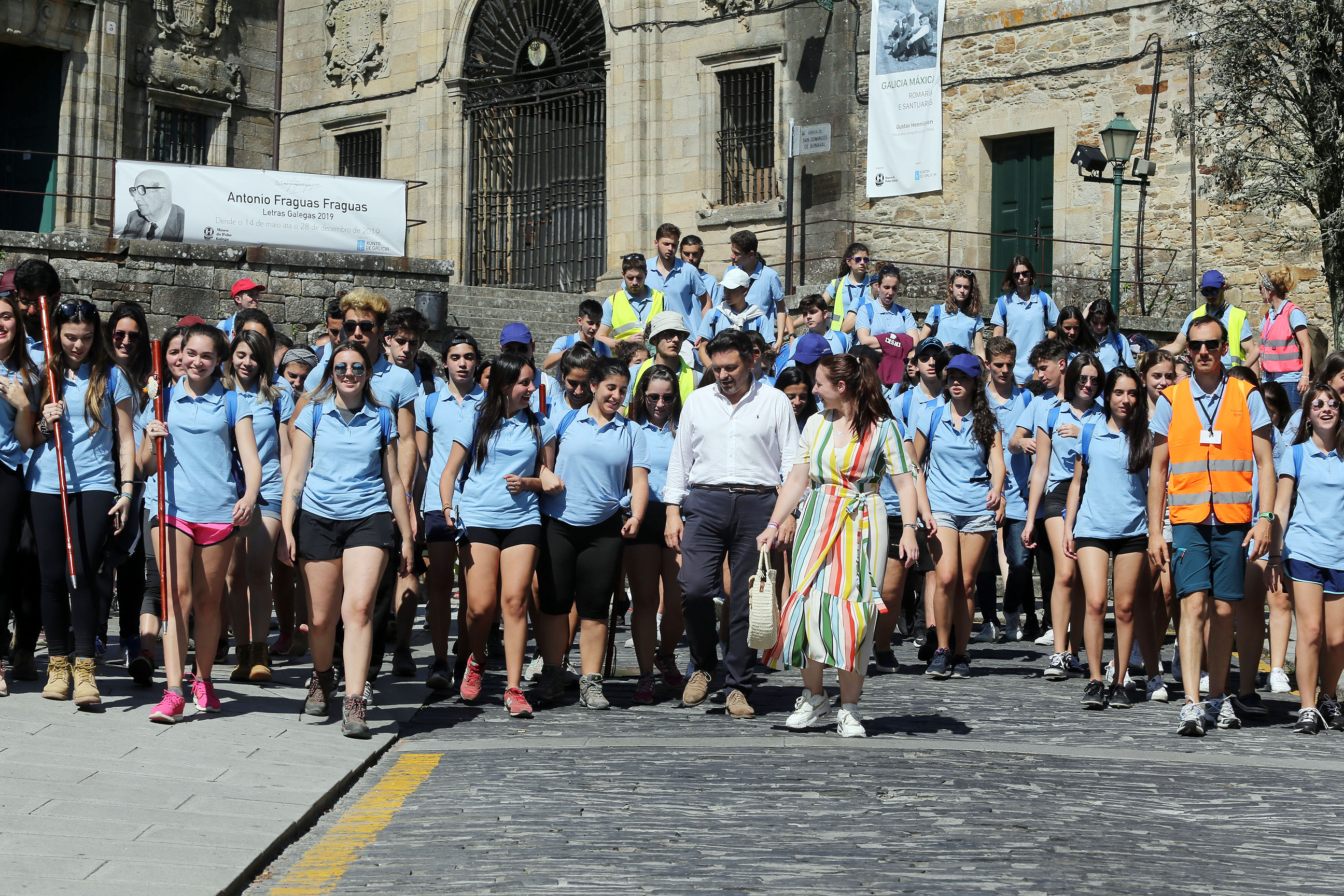 As e os participantes peregrinaron a Compostela (polo Camiño francés ou pola Vía da Prata) e coñeceron a capital de Galicia