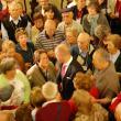 Foto da recepción institucional celebrada no Museo do Pobo Galego (en Santiago de Compostela) ás e aos participantes na edición de 2011 do programa de 'Reencontros na Terra'