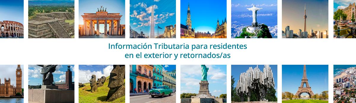 Información Tributaria Residentes en el Exterior y Retornados/as