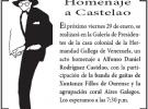 Homenaxe a Castelao na Hermandad Gallega de Venezuela