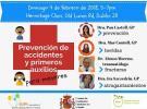 Taller sobre prevención de accidentes & primeiros auxilios para menores, en Dublín