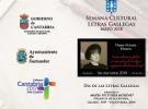 Semana das Letras Galegas 2018 en Santander