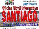 Oficina informativa móbil de AVESANTI, FEVEGA e APEJUVEG, en Santiago de Compostela