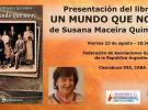 Presentación de 'Un mundo que no vi', de Susana Maceira Quinteiro, en Bos Aires