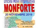 Oficina informativa móvil de FEVEGA, en Monforte de Lemos