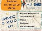 Audición fin de curso 2020-2021 da Escola de Música da Xuventude de Galicia – Centro Galego de Lisboa