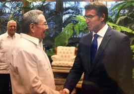 Feijóo agradece a Raúl Castro la cordialidad del pueblo cubano y confirma el interés por concretar colaboraciones en sectores como el agroalimentario, biotecnológico, energético y el de las TIC