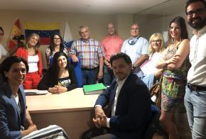 Miranda visita a nova oficina fixa de información ao retornado de Fevega, a terceira de Galicia, que abrangue toda a provincia de Lugo