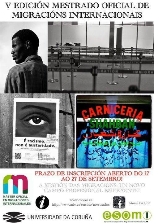 Vª Edición do Máster Oficial en Migracións Internacionais da Universidade da Cor