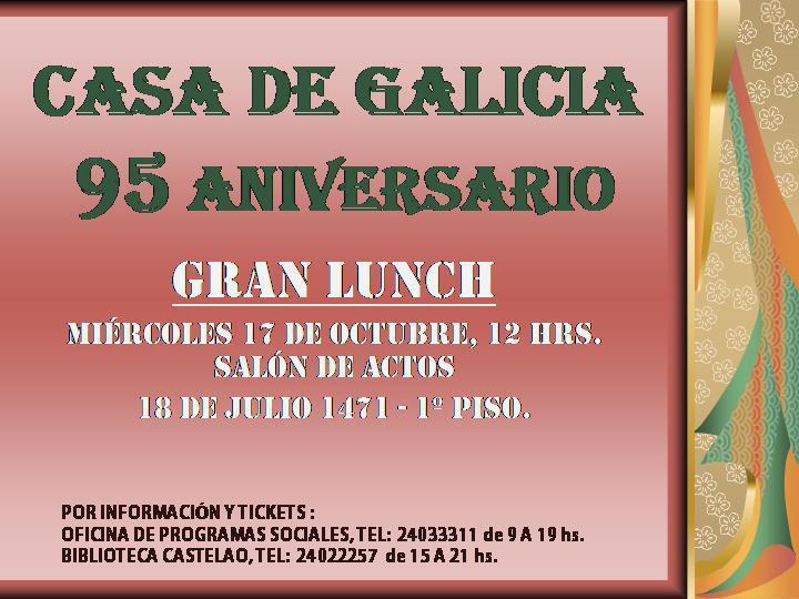 95º Aniversario da Casa de Galicia de Montevideo