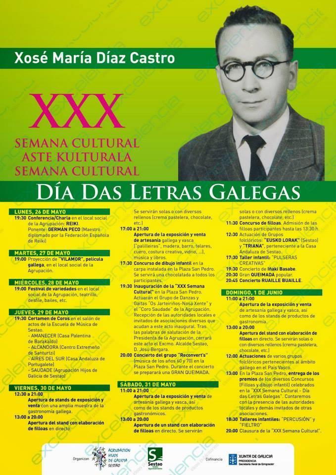 XXX Semana Cultural - Día das Letras Galegas 2014 en Sestao