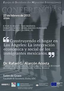 """Conferencia """"Construyendo el hogar en Los Ángeles: La integración económica y social de los inmigrantes mexicanos"""", na UDC"""