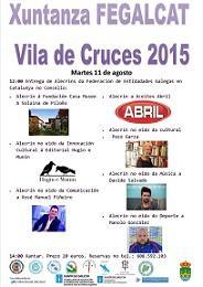 Entrega de los Premios 'Alecrín 2015' de la Federación de Entidades Culturais Galegas en Catalunya (FEGALCAT)
