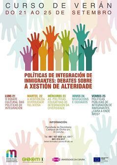 """Curso de verán """"Políticas de Integración de Inmigrantes: debates sobre a xestión da alteridade"""", na Universidade da Coruña"""