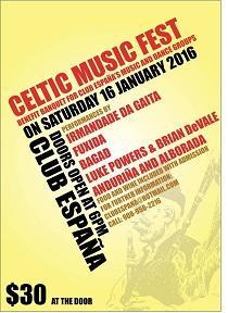Celtic Music Fest a beneficio dos grupos de música e baile do Club España de Nova Jersey