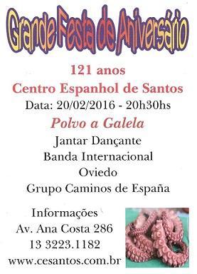121º aniversario del Centro Espanhol de Santos