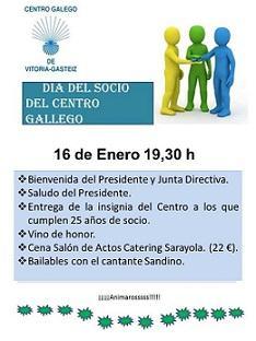 Día do/a socio/a 2016 no Centro Galego de Vitoria