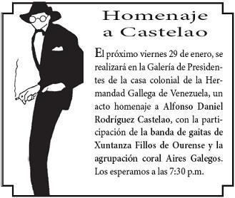 Homenaje a Castelao en la Hermandad Gallega de Venezuela