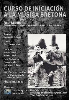 Curso de iniciación  a la música bretona, en la Casa Galega de Fuenlabrada