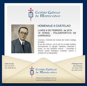 Homenaxe a Castelao 2016 do Centro Galego de Montevideo