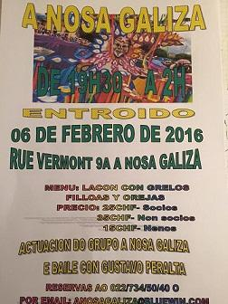 Entroido 2016 na Nosa Galiza de Xenebra