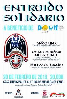 Entroido solidario a beneficio de 'Down La Rioja', do Centro Galego de Miranda de Ebro