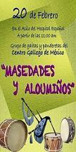 Actuación de los Grupos folclóricos del Centro Gallego en el Asilo del Hospital Español de México
