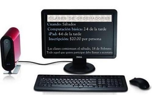Curso de ordenadores na Casa Galicia de Nova York