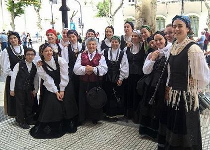 Cursos de folclore galego 2017 da Asociación Galega Residentes de Mos en Bos Aires