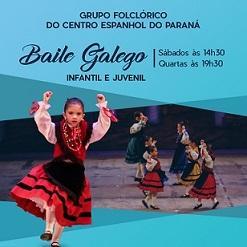 Cursos de danza galega infantil e xuvenil 2017 do Centro Espanhol do Paraná