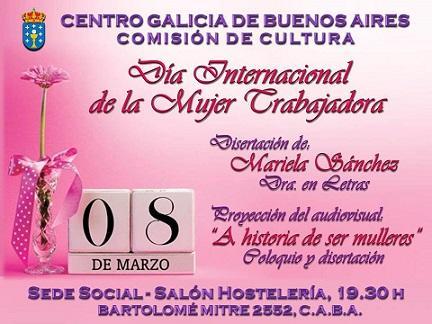 Día Internacional da Muller 2017, no Centro Galicia de Bos Aires