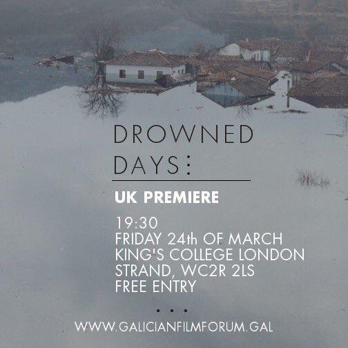 Estrea de «Os días afogados» no Reino Unido, na 6ª edición do Galician Film Forum de Londres