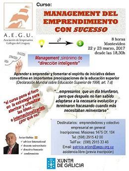 Curso «Management del emprendimiento con 'sucesso'», en Montevideo