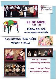 Actividades para nenos/as, música e baile, do Centro Galego de Móstoles