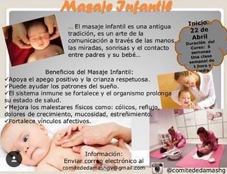 Curso de masaxe infantil, na Hermandad Gallega de Venezuela
