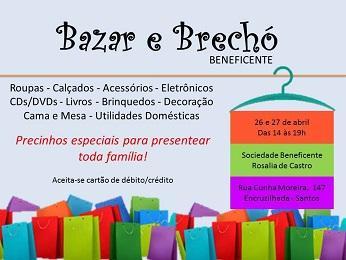 Bazar benéfico da Sociedade de Socorros Mútuos e Beneficente Rosalía de Castro de Santos