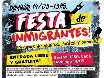 Iª Festa de Inmigrantes, en Bos Aires