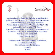 Santiago Apóstolo 2017, na Casa Galicia de Bos Aires