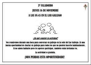Faladoiro de galego, en Sevilla