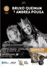 Actuación do Bruxo Queiman e Andrea Pousa, no Centro Galego de México