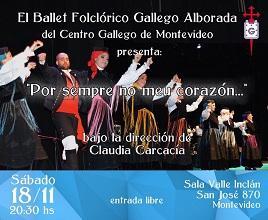 """""""Por sempre no meu corazón"""", do Ballet Folclórico Galego Alborada, en Montevideo"""